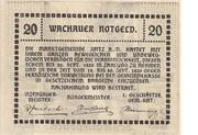 20 Heller (Wachau - Aggstein) – revers