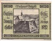 20 Heller (Wachau - Emmersdorf) – avers