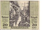 20 Heller (Wachau - Schwallenbach) – avers