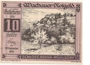 10 Heller (Wachau - Ranna-Mühldorf) – avers