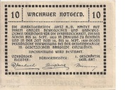 10 Heller (Wachau - Aggstein) -  revers