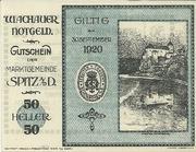 50 Heller 1920 Gutschein -  avers