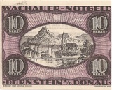10 Heller (Wachau - Dürnstein) – avers