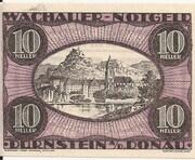10 Heller ( Durnstein an der Donau) – avers