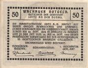 50 Heller (Wachau - Weissenkirchen) – revers