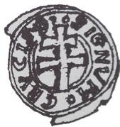 Brakteat - unknown abbot wąchocki (Wąchock mint) – avers