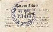 10 Heller (Waidhofen an der Thaya) 1920 – revers