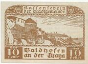 10 Heller (Waidhofen an der Thaya) – avers