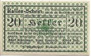 20 Heller (Waidhofen an der Thaya) – avers