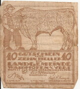 10 Heller (Waidhofen an der Ybbs) – avers