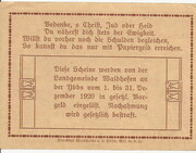 30 Heller (Waidhofen an der Ybbs) – revers