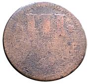 3 pfennig Karl August Friedrich – revers