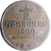 1/2 groschen Friedrich Karl August – revers