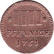 4 Pfennige - Karl August Friedrich – revers