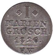 1 mariengroschen Georg Heinrich – revers