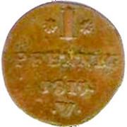 1 Pfennig - Georg Heinrich – revers