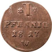 1 Pfennig - Georg Friedrich Heinrich – revers