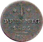 1 Pfennig - George Heinrich – revers
