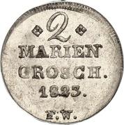 2 mariengroschen Georg Friedrich Heinrich – revers