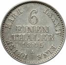 ⅙ Thaler - Georg Heinrich – revers