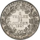 2 Thaler / 3½ Gulden - Georg Victor – revers