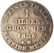 1 groschen Georg Friedrich Heinrich – revers