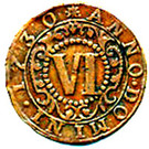 6 Pfennig - Karl August Friedrich – revers