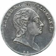 1 thaler Friedrich -  avers