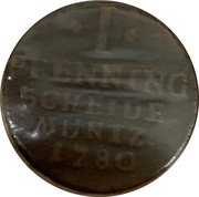 1 pfennig Friedrich Karl August – revers
