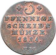 3 Pfennige - George Heinrich -  revers