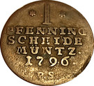 1 pfennig Friedrich Karl August – revers
