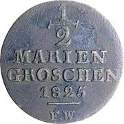 ½ mariengroschen Georg Friedrich – revers