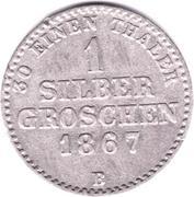 1 Silbergroschen - Georg Victor – revers