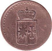 1 pfennig Georg Friedrich Heinrich – avers