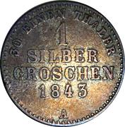 1 silbergroschen Georg Friedrich Heinrich – revers