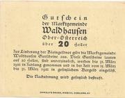 20 Heller (Waldhausen) -  revers