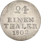 1/24 Thaler - Johann Ludwig – revers