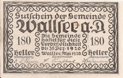 180 Heller (Wallsee) – avers