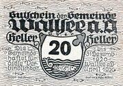 20 Heller (Wallsee) – avers
