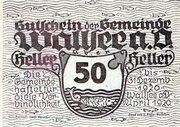 50 Heller (Wallsee) -  avers