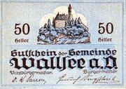 50 Heller (Wallsee) -  revers