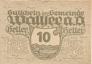 10 Heller (Wallsee) – avers