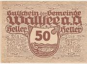 50 Heller (Wallsee) – avers