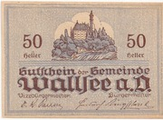 50 Heller (Wallsee) – revers