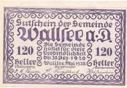 120 Heller (Wallsee) – avers