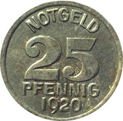 25 pfennig - Warendorf – revers