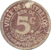 5 centimes - Ville de Wattrelos [59] – avers