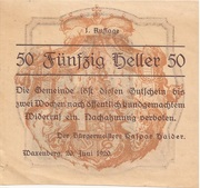50 Heller (Waxenberg) – avers