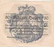80 Heller (Waxenberg) – avers