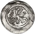 1 pfennig Friedrich I. – avers
